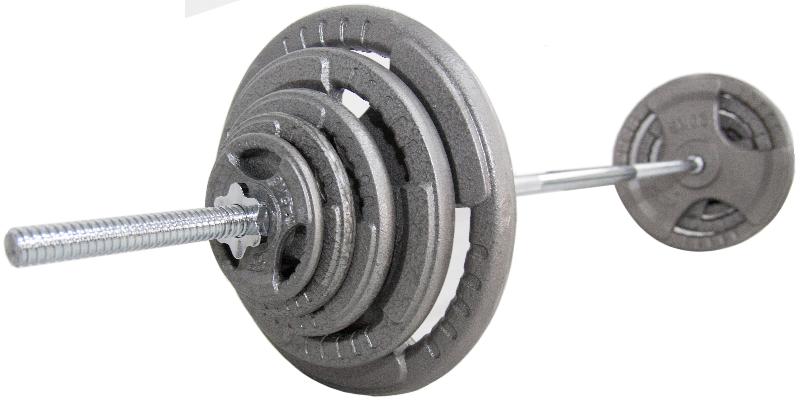 Obciążenie żeliwne 80kg/29mm + gryf 180cm/28mm