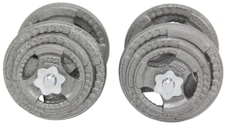 Obciążenie żeliwne 40kg/29mm +2x gryf 28mm/40cm