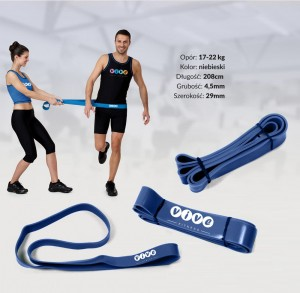 Guma treningowa TAŚMA POWER BAND FITNESS opór 17-22  kg