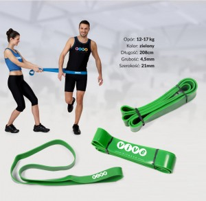 Guma treningowa opór TAŚMA POWER BAND FITNESS 12-17  kg