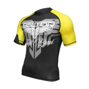 Rashguard black yellow  short sleeve rozm. S + GRATIS